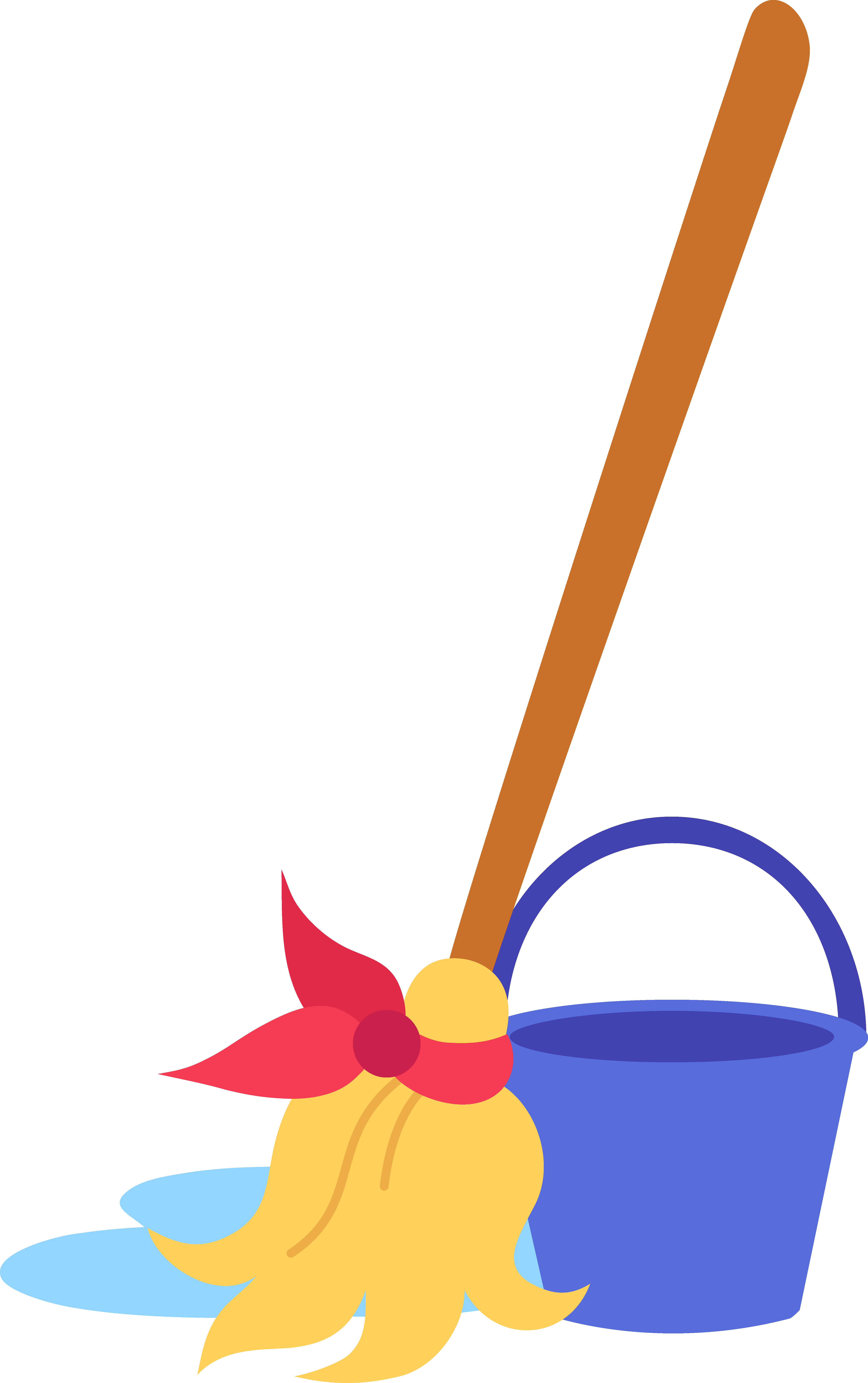 4968x7917 Mop And Bucket Clip Art