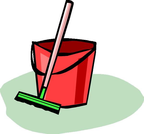 600x558 Bucket And Mop Clip Art