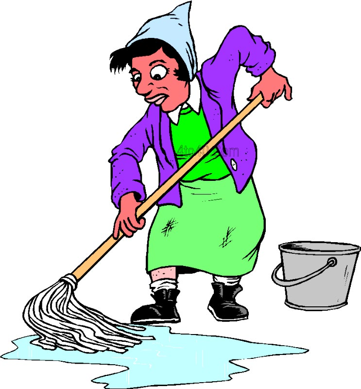 743x800 Cleaning Mop Clipart
