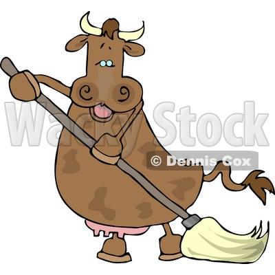 400x400 Human Like Cow The Mopping Floor Clipart Djart