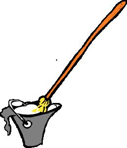 258x299 Mop And Bucket Clip Art