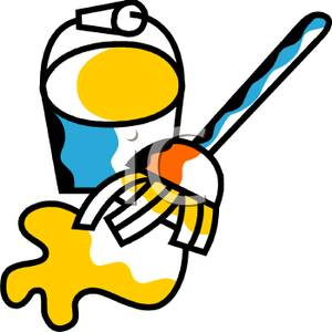 300x300 Mop Cleaning Up A Spill Clipart Image