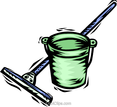 480x437 Mops And Pails Royalty Free Vector Clip Art Illustration Vc064075