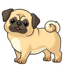 220x220 Puppy Clipart Pug