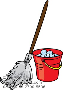211x300 Art Illustration Of Mop And A Bucket Of Soapy Water