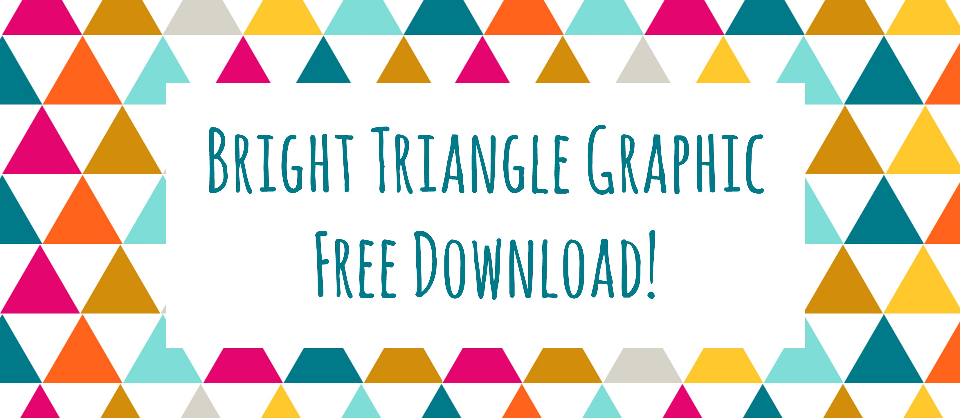 3307x1440 Bright Triangle Clip Art (Free Downloads!) Lace And Yarn
