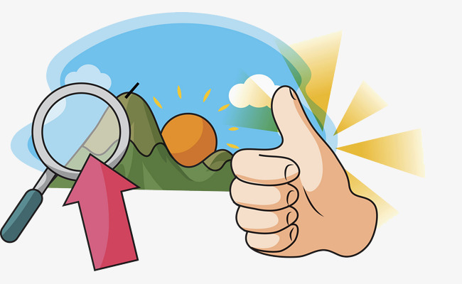 650x400 Morning Sun, Cartoon, Magnifier, Thumb Png Image For Free Download