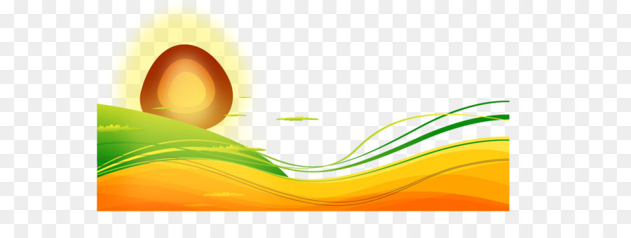 900x340 Morning Sun Cartoon Wavy Lines