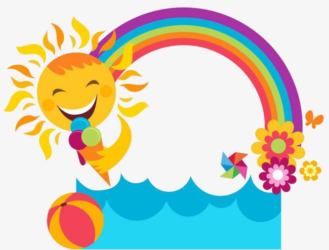650x494 Colour Morning Sun, Hand Painted Morning Sun, Cartoon Morning Sun