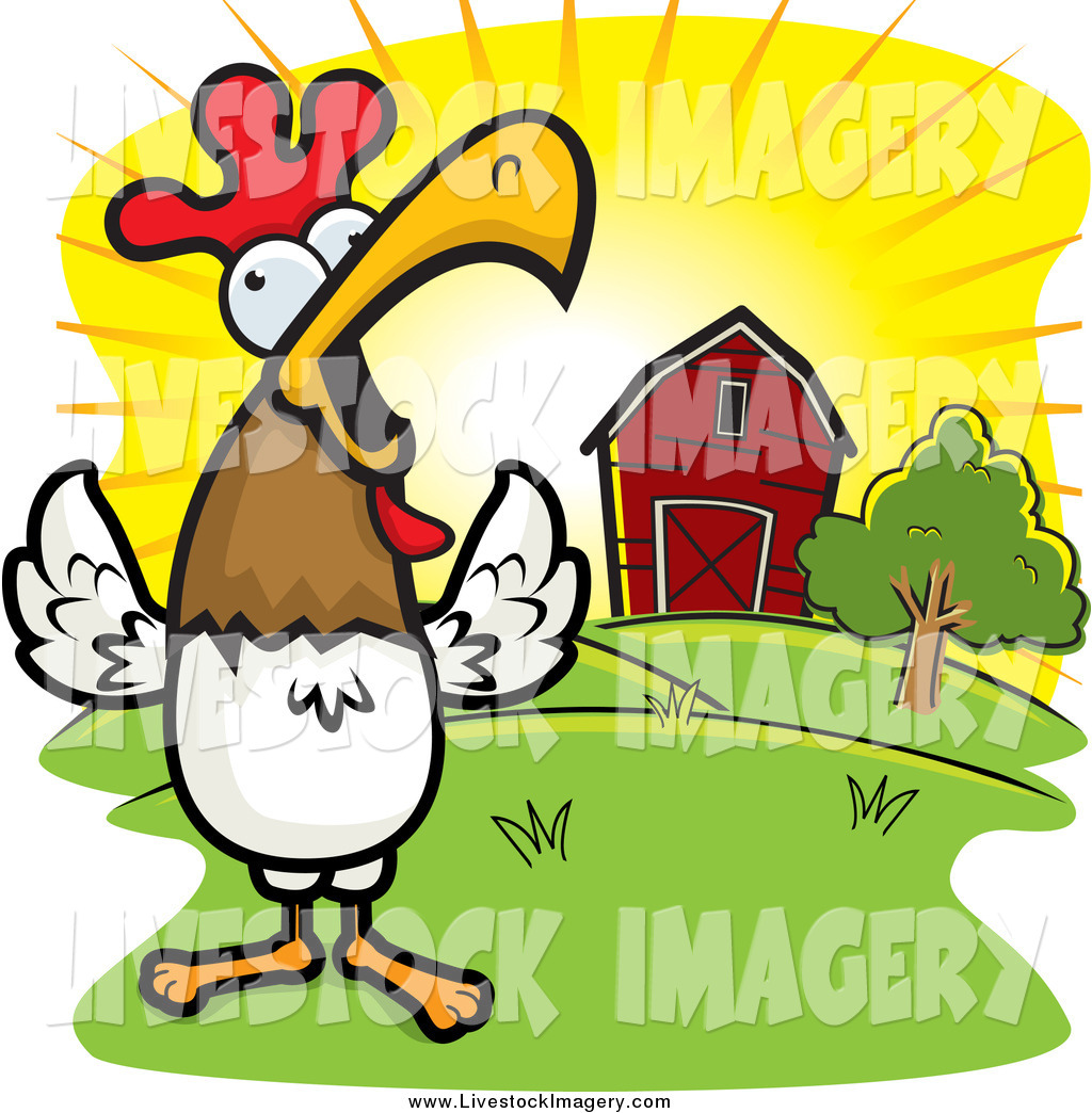 1024x1044 Sunrise Rooster Clipart