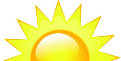 399x201 Sunrise Clipart Vector