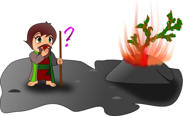 598x380 Moses And The Burning Bush Chibi Version Clip Art Free Vector