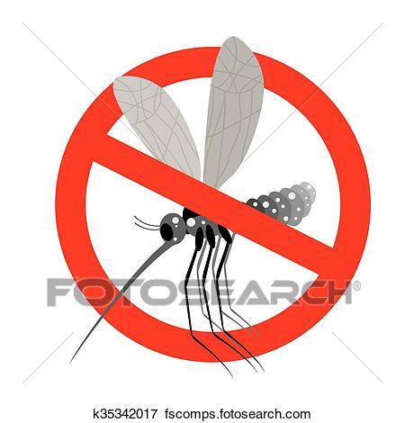 450x470 Clip Art Of Stop Mosquito. Forbidden Zika Virus. Frozen Mosquito