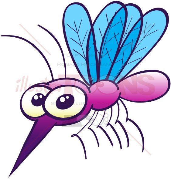 563x590 Harmless Purple Mosquito Clip Art