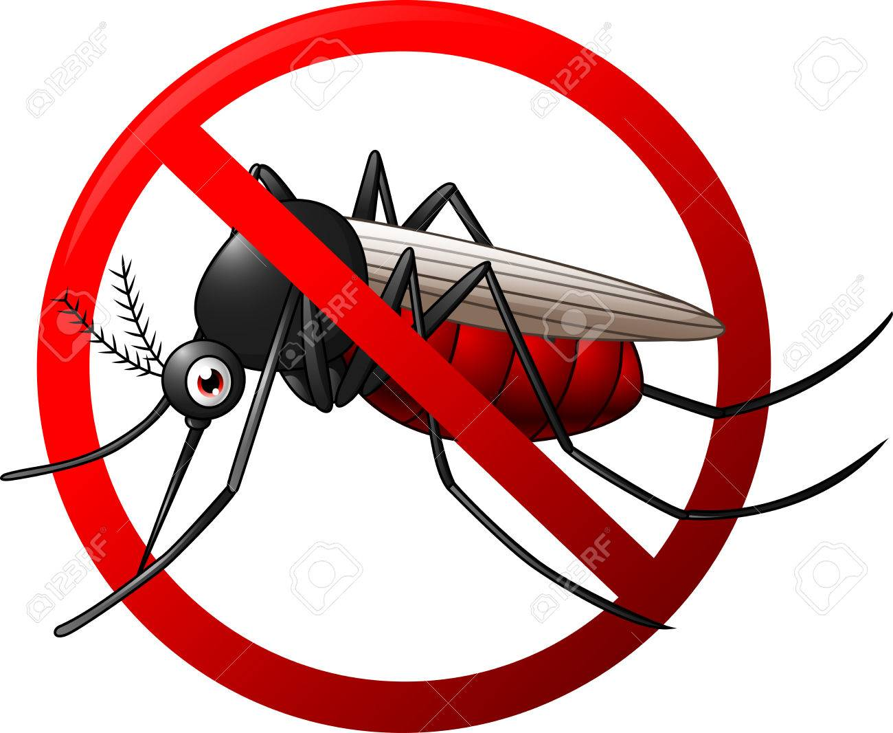 1300x1066 Illustration Of Stop Mosquito Symbol Royalty Free Cliparts