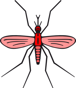 258x298 Mosquito In Red Color Version 2 Clip Art