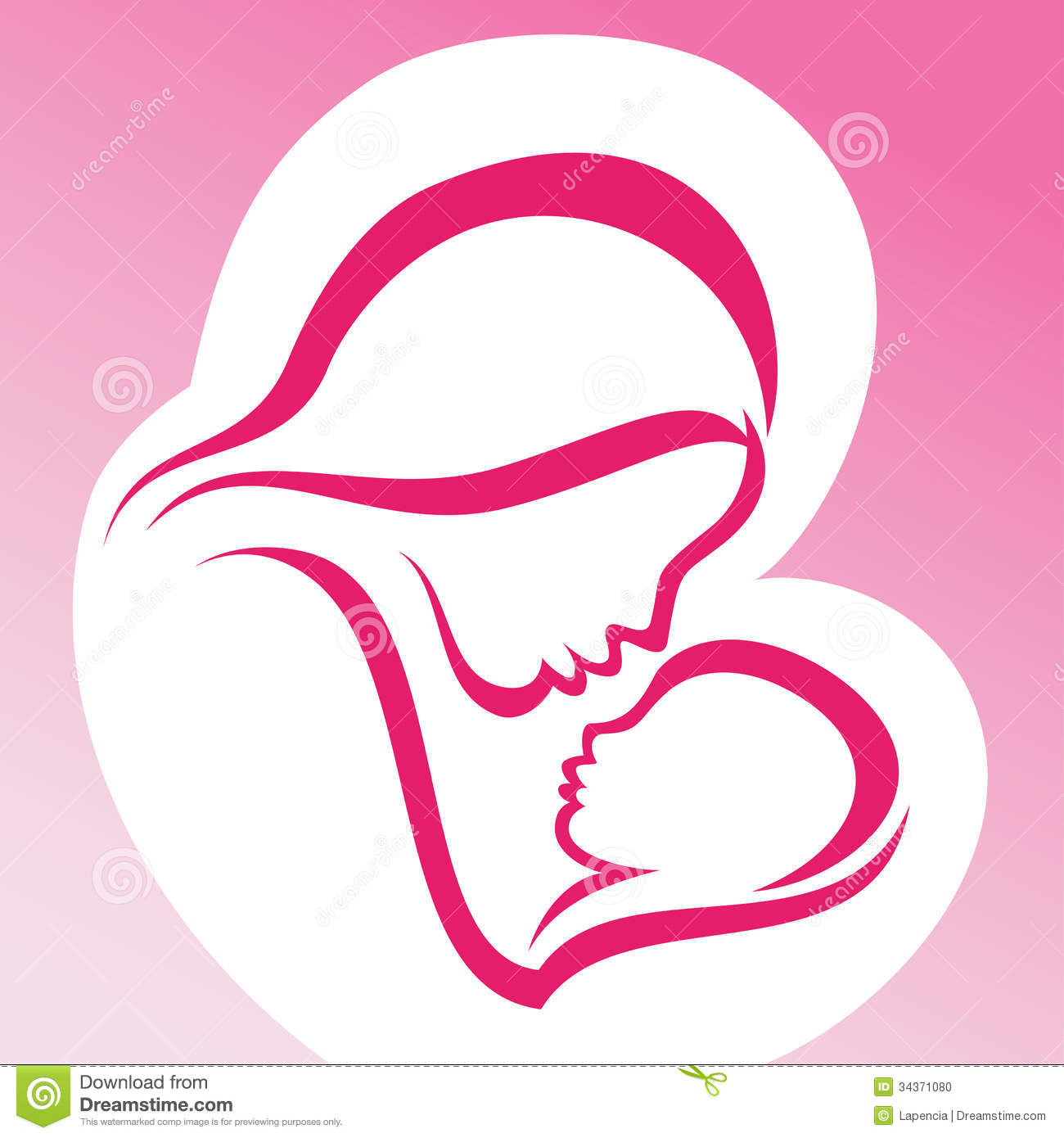 1300x1390 Clipart Mother And Baby