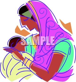 323x350 Middle Eastern Mother And Baby