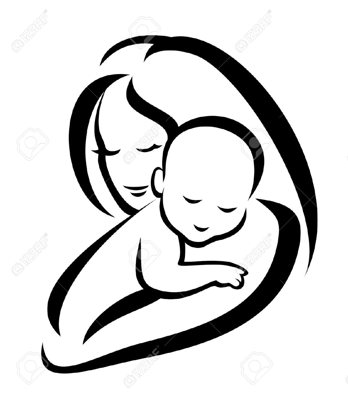 Mother And Baby Clipart Free | Free download best Mother And Baby