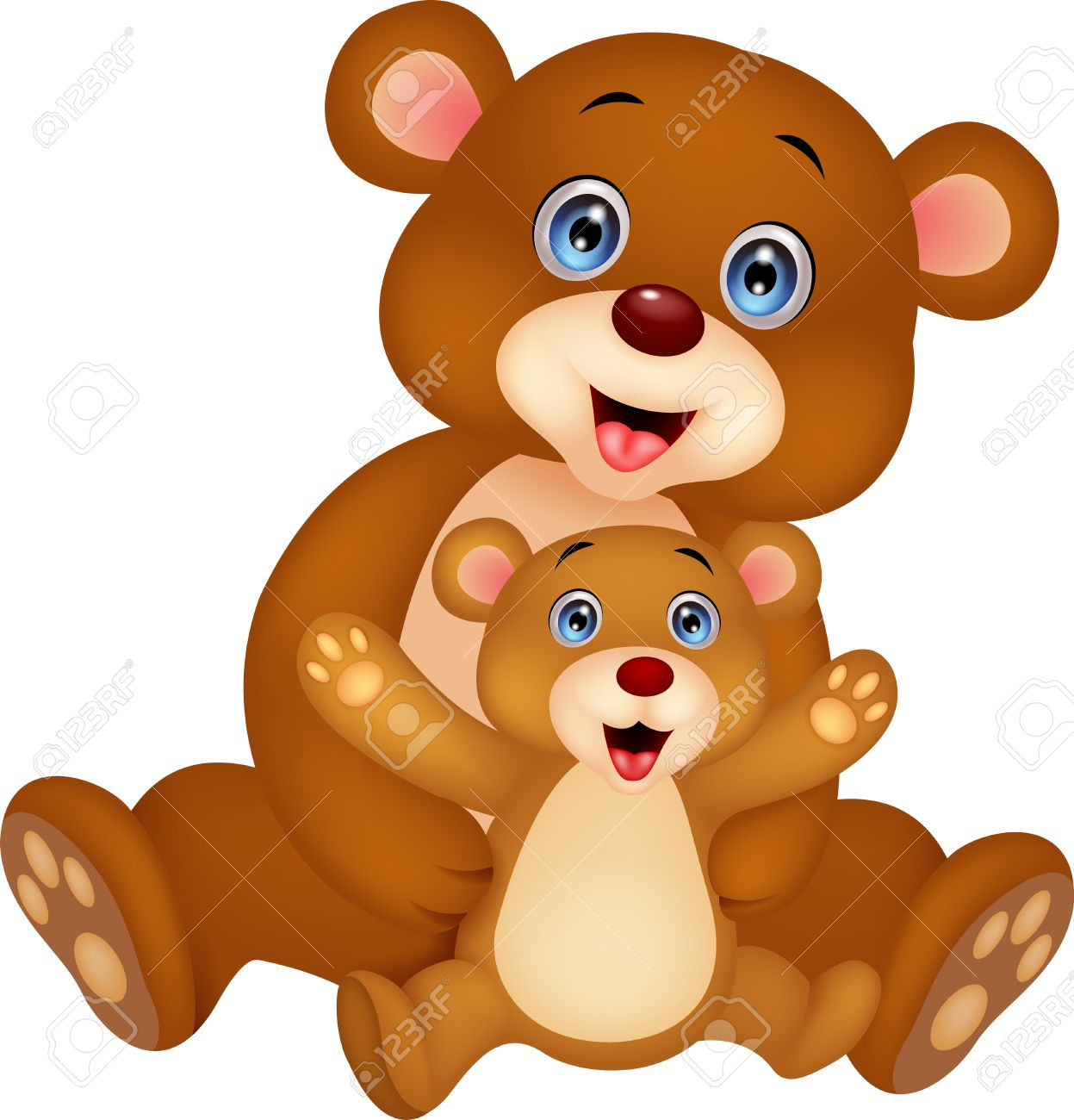 1247x1300 Bear Clipart Mother And Baby