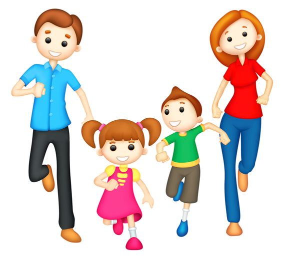 564x517 Family Clipart 5 People 2 Daughters 1 Son