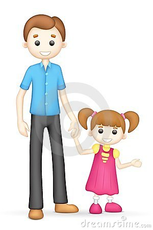 300x450 Father And Daughter Clipart
