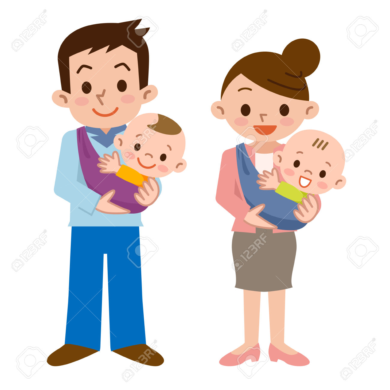 1300x1300 Mother And Baby Clipart Cartoon