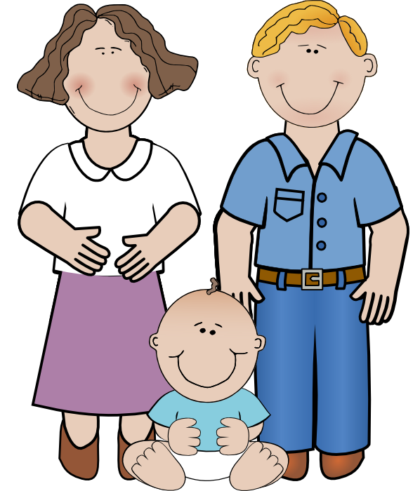598x700 Mother Father And Child Clipart