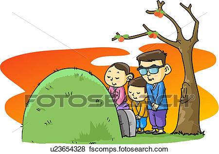 450x316 Stock Illustration Of Father, Grave, Sickle, Mother, Family