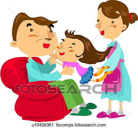 450x418 Clipart Of Sofa, Mother, House, Weekend, Holiday, Father U10435361