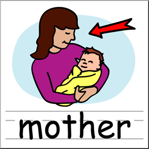 304x304 Clip Art Basic Words Mother Color Labeled I Abcteach