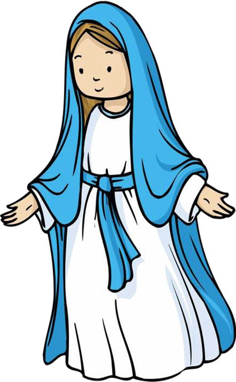 486x785 Jesus And Mother Mary Clipart