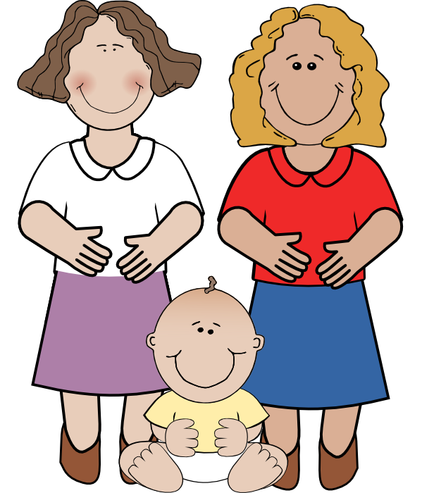 599x700 Mother And Baby Clipart Animated