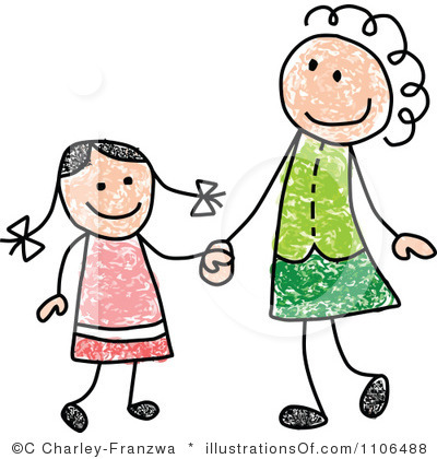 400x420 Mother Daughter Clipart