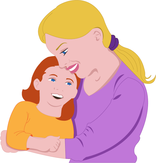 546x570 Free Clip Art People Everyday People Mother And Daughter