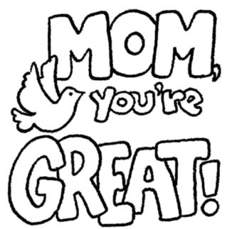 333x323 Mother's Day Black White Clipart Mother Day Clipart Black