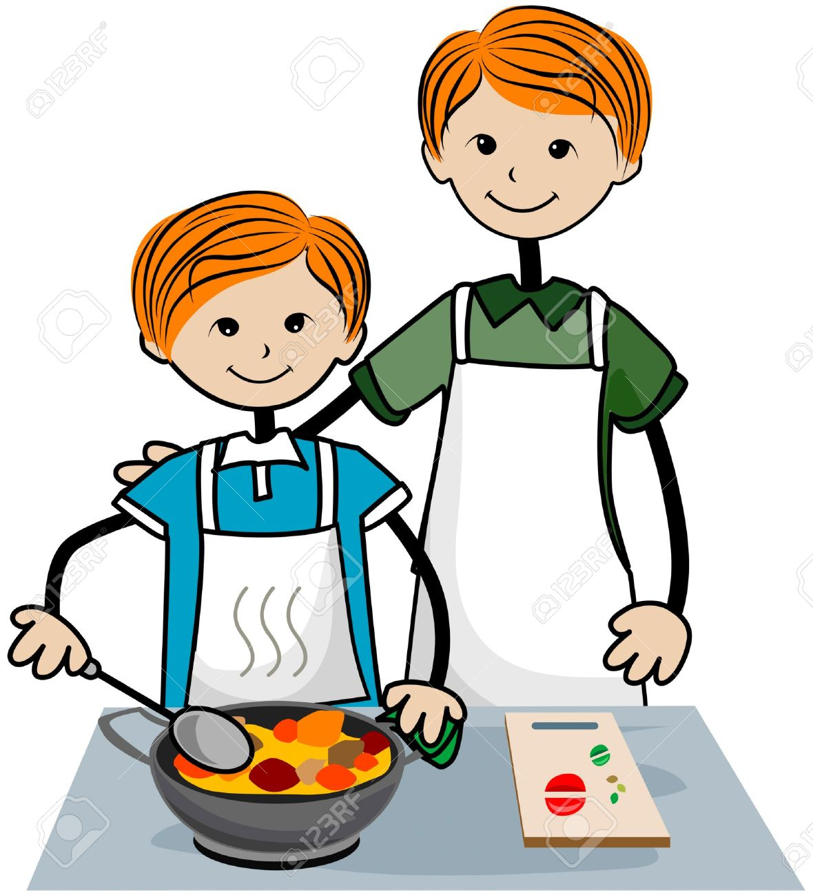 Cooker Clip Art ~ Mother cooking clipart free download best