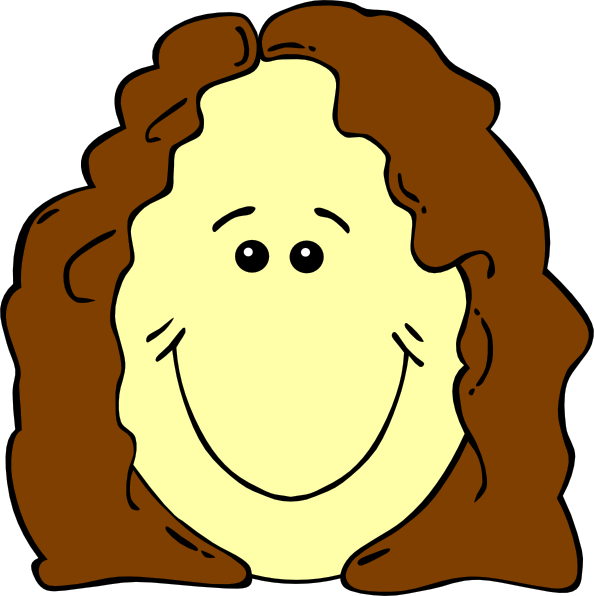 594x596 Hair Clipart Mother Face