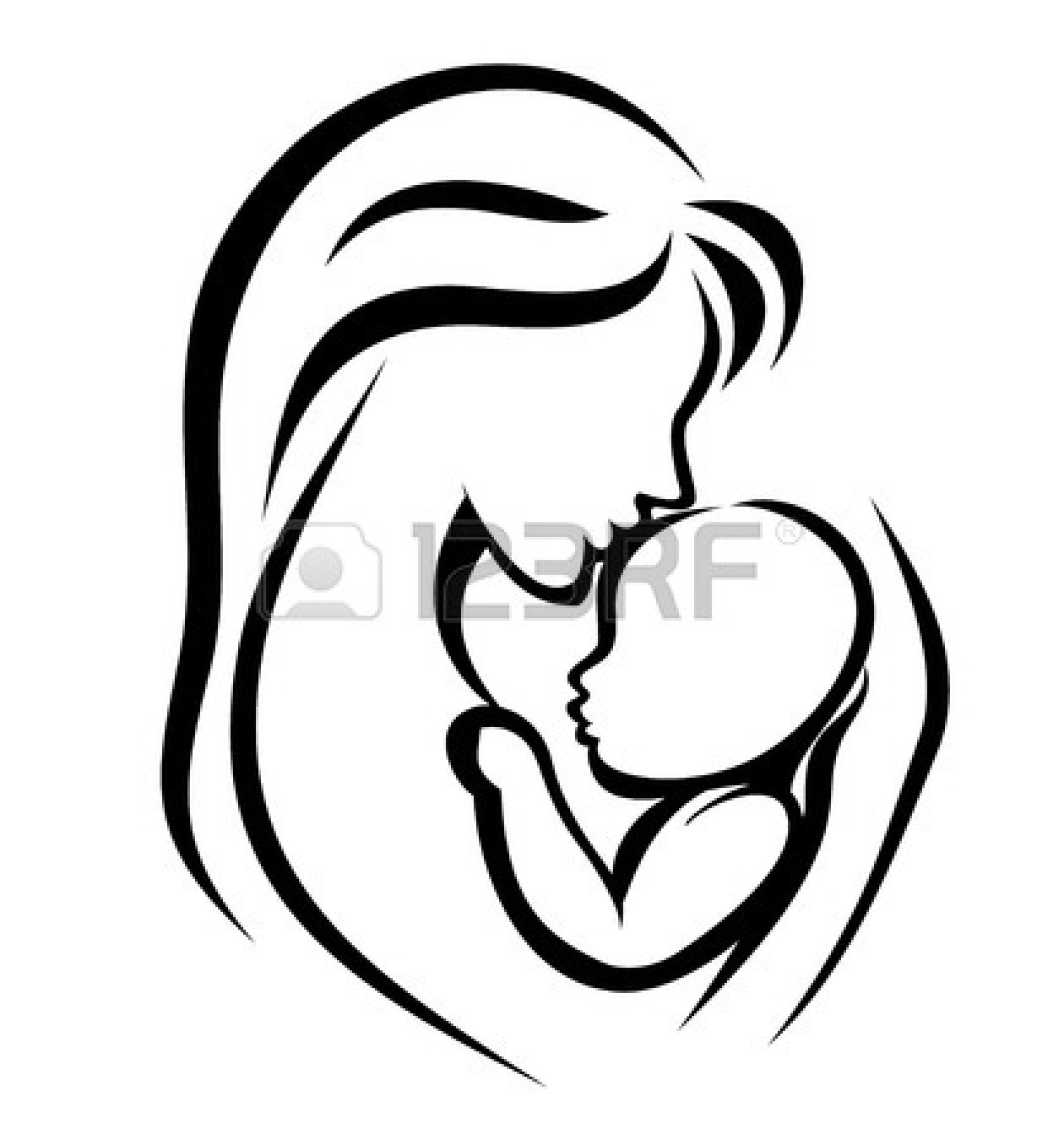1260x1350 Mama Mit Baby Clipart