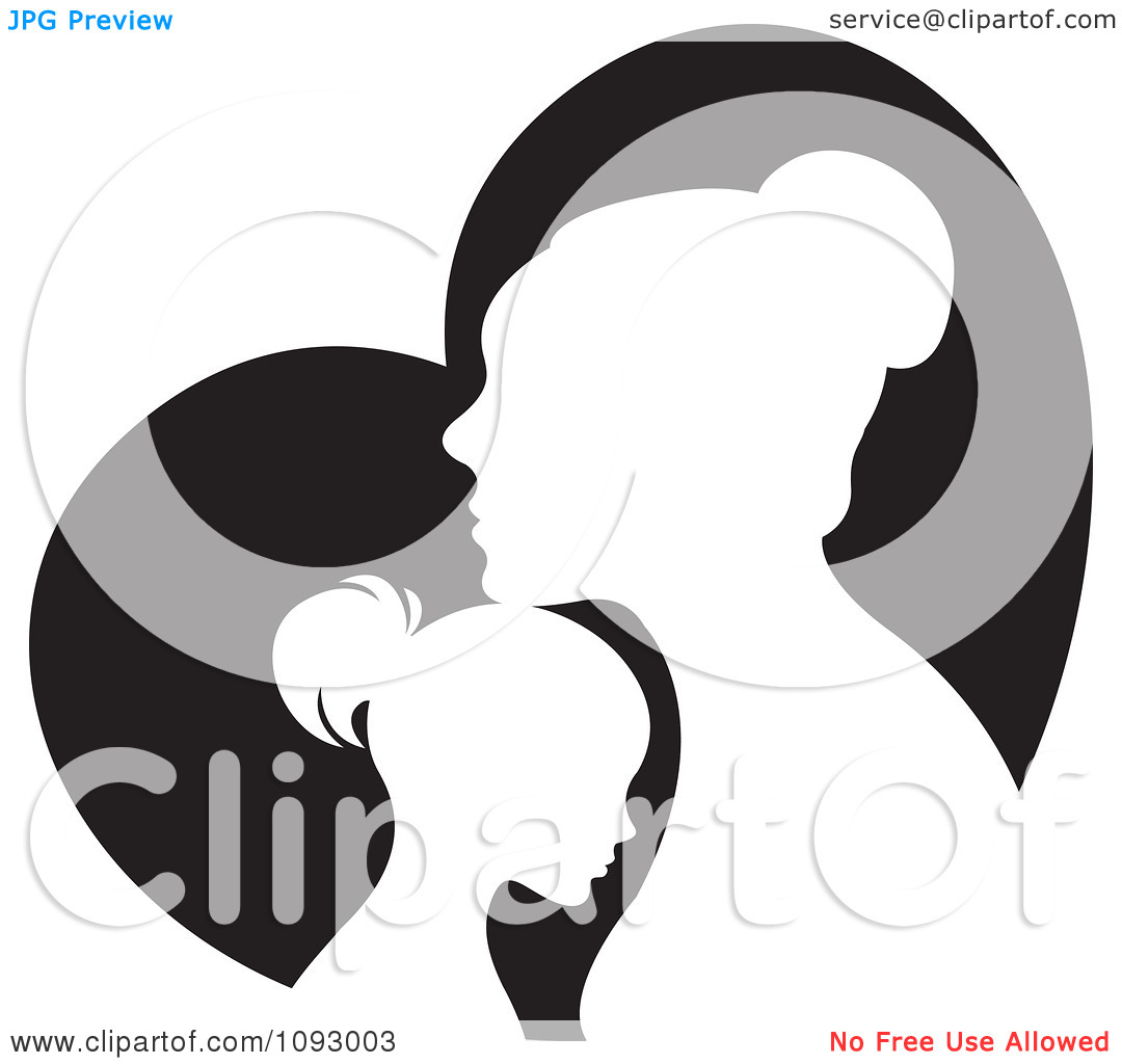 1080x1024 Mother Silhouette Clipart
