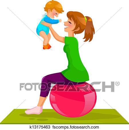 450x451 Clipart Of Mother And Baby K13175463