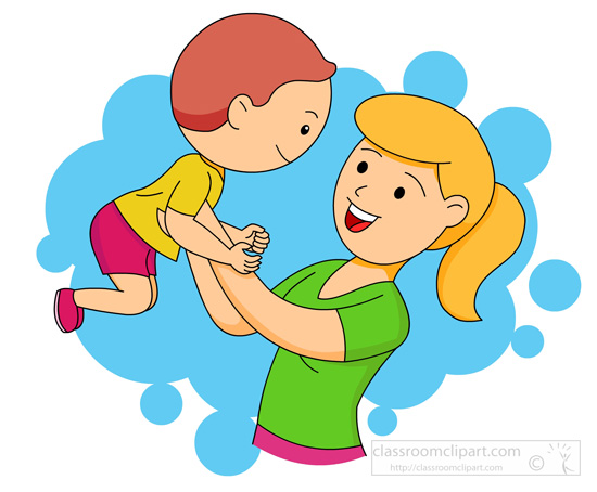550x454 Mother And Baby Clipart Cooking