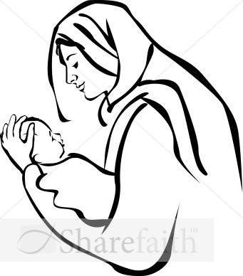 341x388 Baby Jesus And Mary Clipart