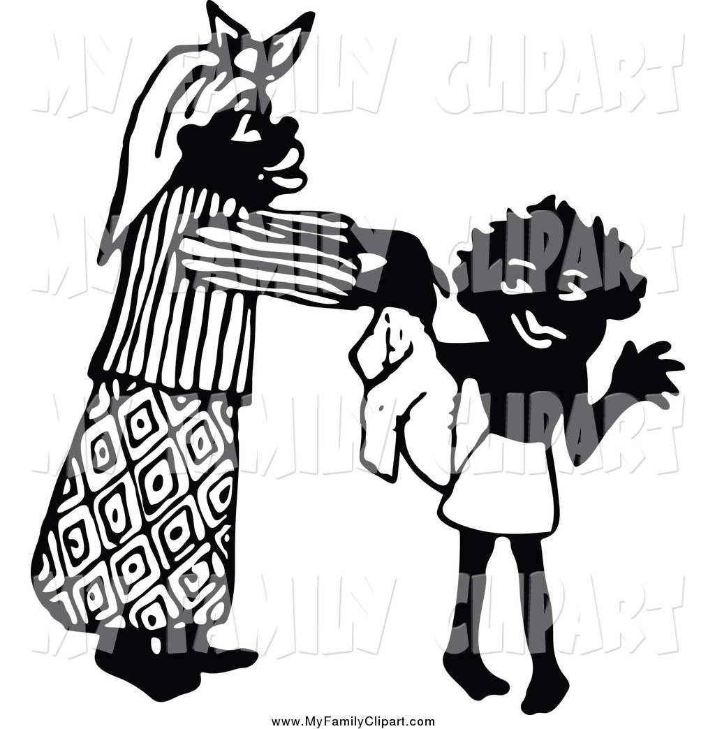 1024x1044 Clip Art Of A Black And White Mother Dressing Her Son By Prawny