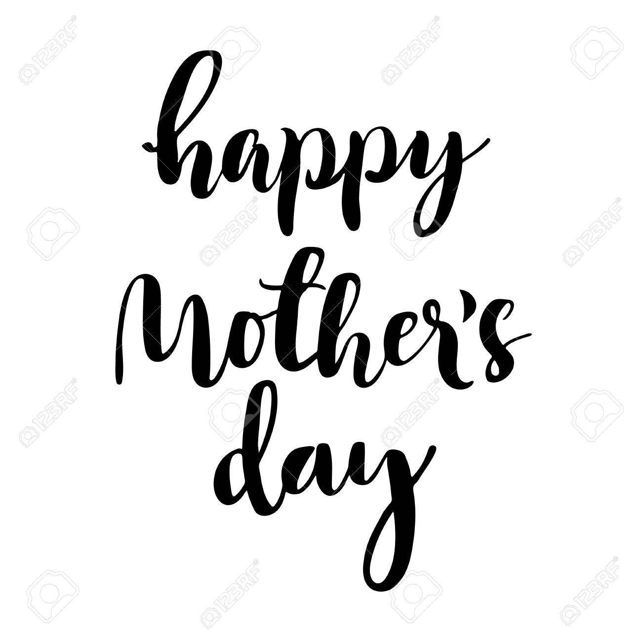 1300x1300 Happy Mother's Day Calligraphic Lettering. Isolated Black Letters