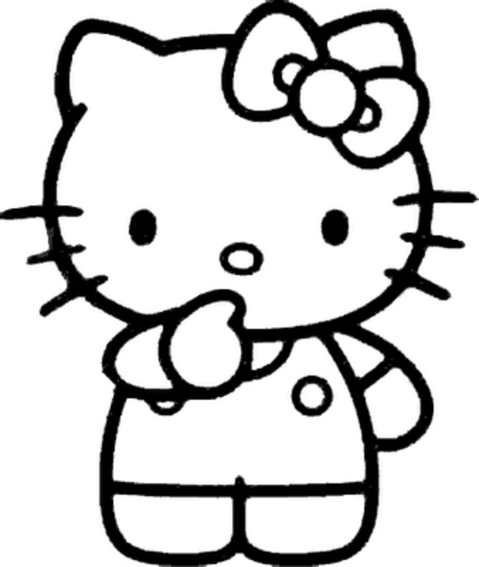 676x800 Hello Kitty Black And White 439746