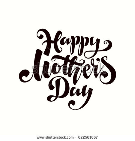 450x470 Mother's Day Clipart Calligraphy