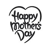 170x170 Clipart Of Happy Mother' Day Lettering K13571691