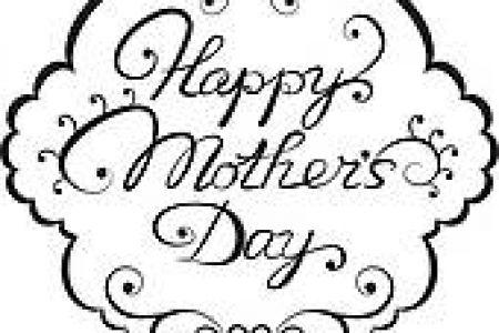 450x300 Printable Mother's Day Clip Art Black