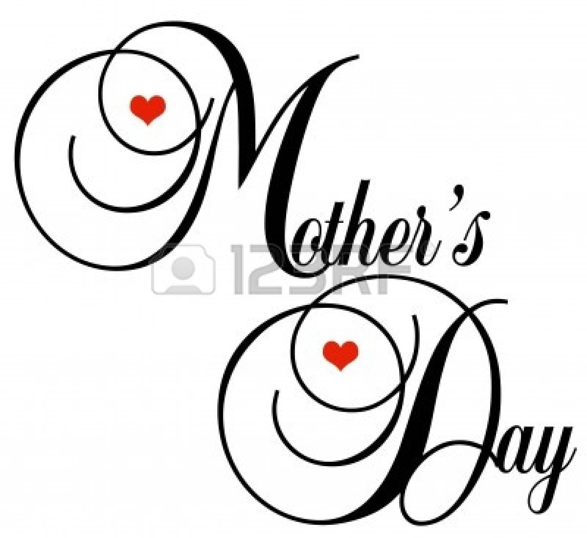 1200x1101 And White Mothers Day Clipart